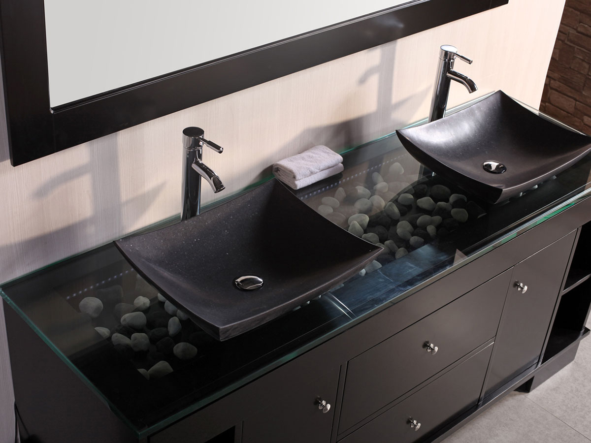 Black modern bathroom vanity - Black Modern Bathroom Vanity 5