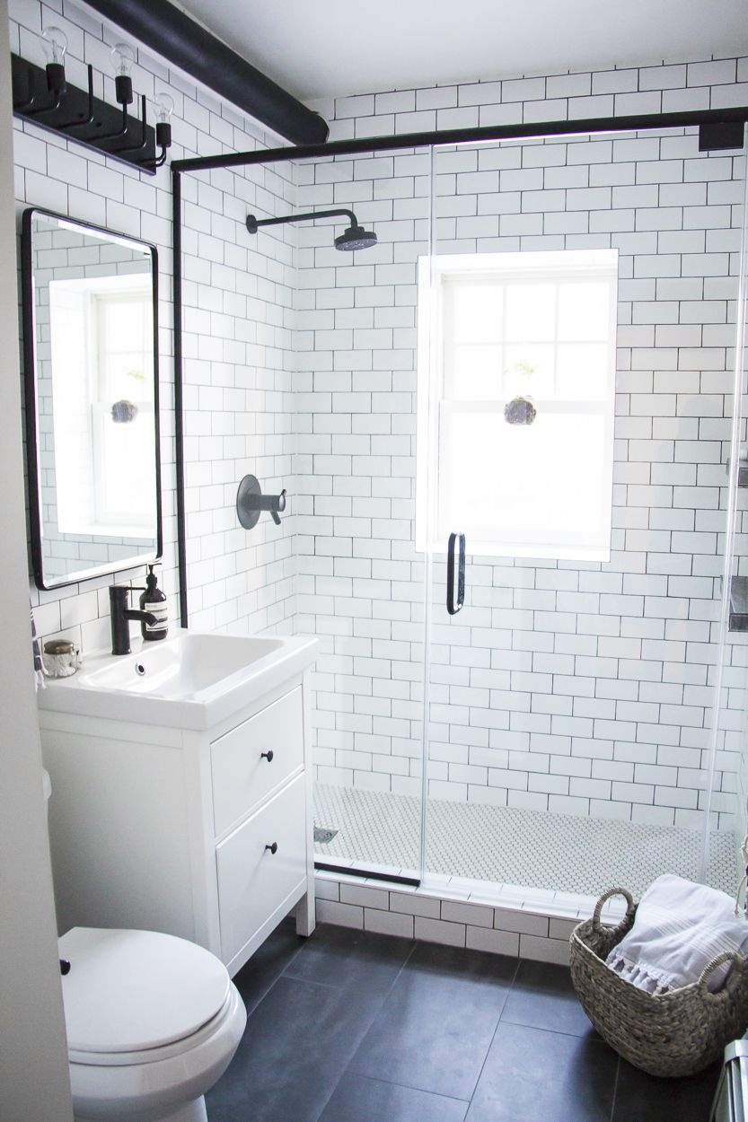 black white modern bathroom small bathroom remodel