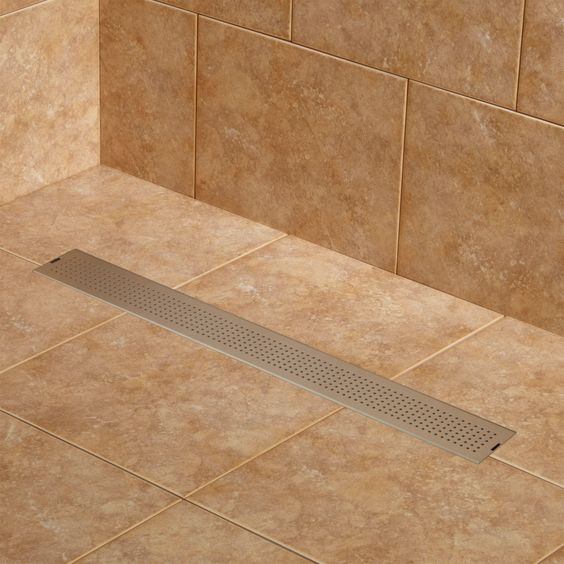 walk in showers linear drain example