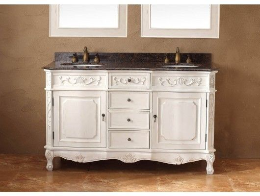 White bathroom vanities clean bright and classic - How to clean marble bathroom vanity top ...