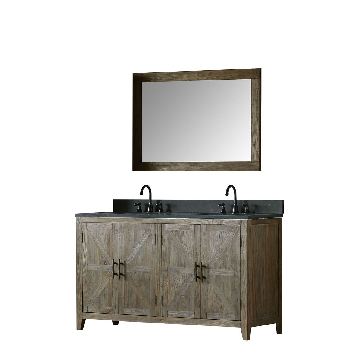 willownest double sink vanity with mirror and faucet masculine design