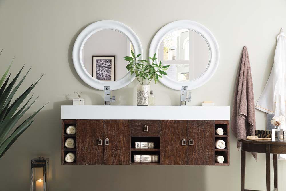 tiburon double vanity coffee oak bathrooms trends