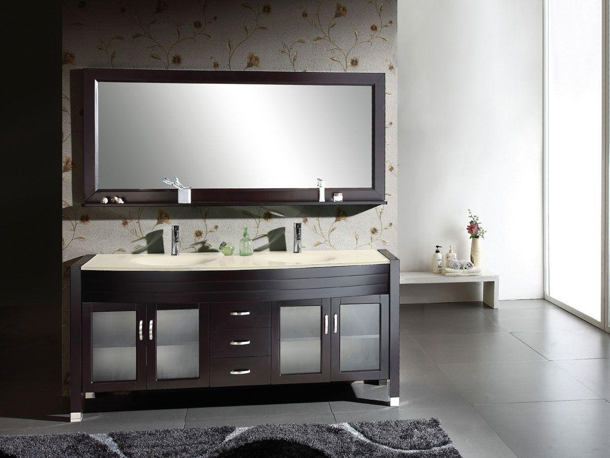 Virtu USA um-3073-s-es Ava 71 Double Sink Bathroom Vanity