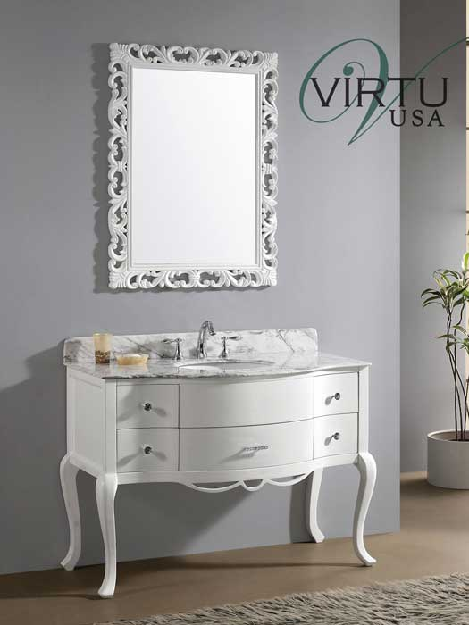 High Quality A Collection Of Bathroom Vanities With Curved Fronts