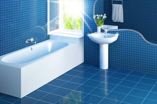 a nice clean bathroom with eco friendly decor