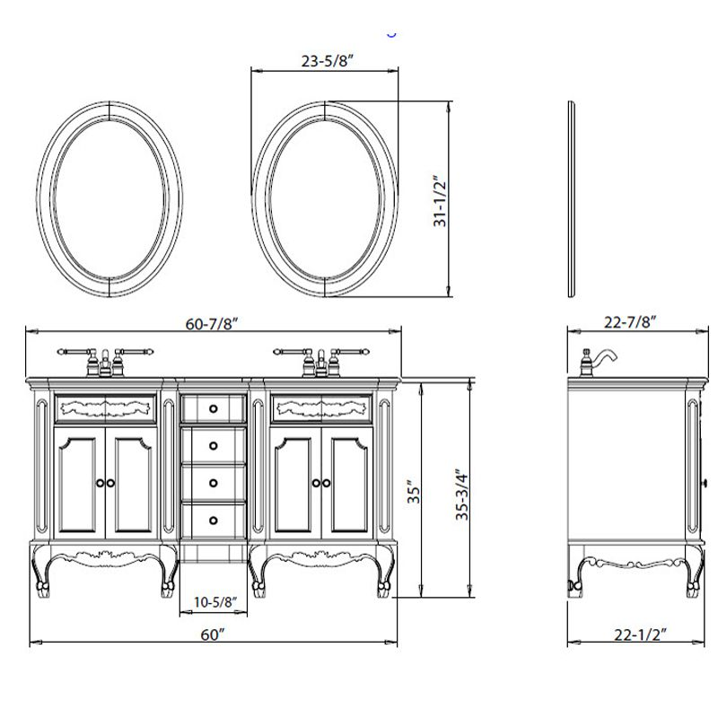 Comfort Height Bathroom Vanity