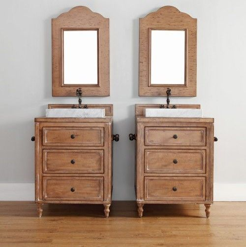 The Copper Cove country bathroom vanity by James Martin is warm and welcoming, and easy to pair with a twin!