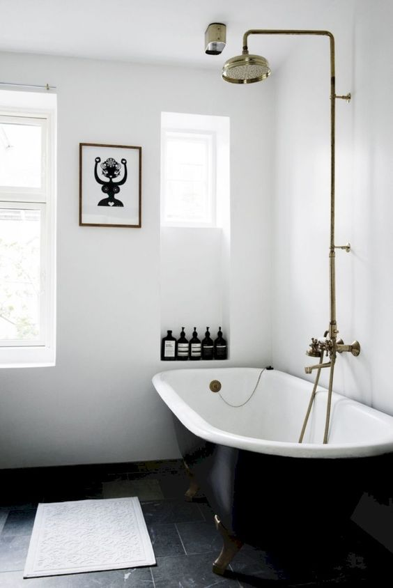 bathroom design trends of 2019 cast iron standalone bathtub in black