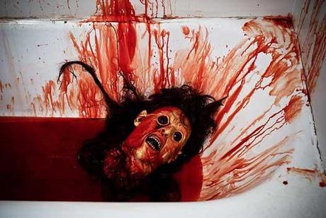 Cut off head in bathtub