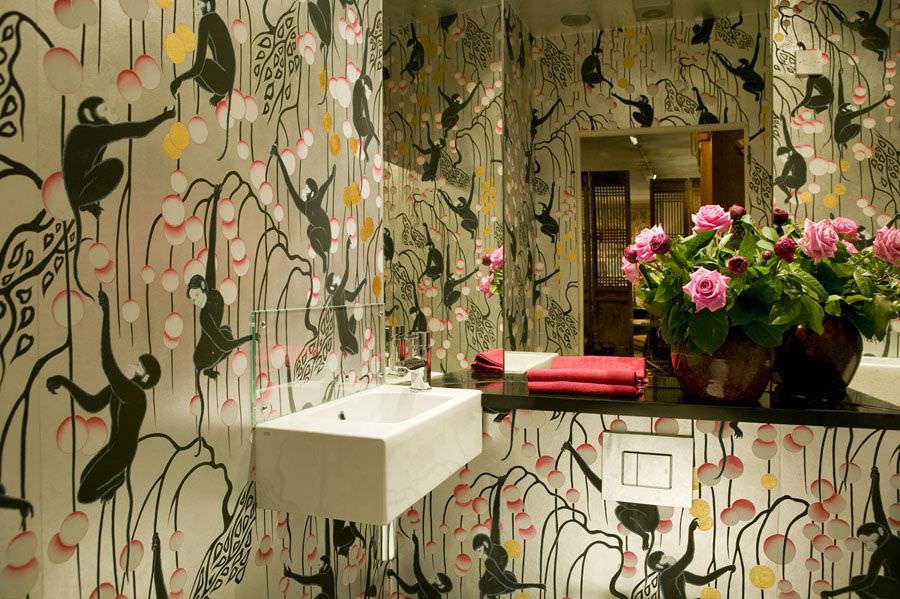 Handpainted Bathroom Wallpaper