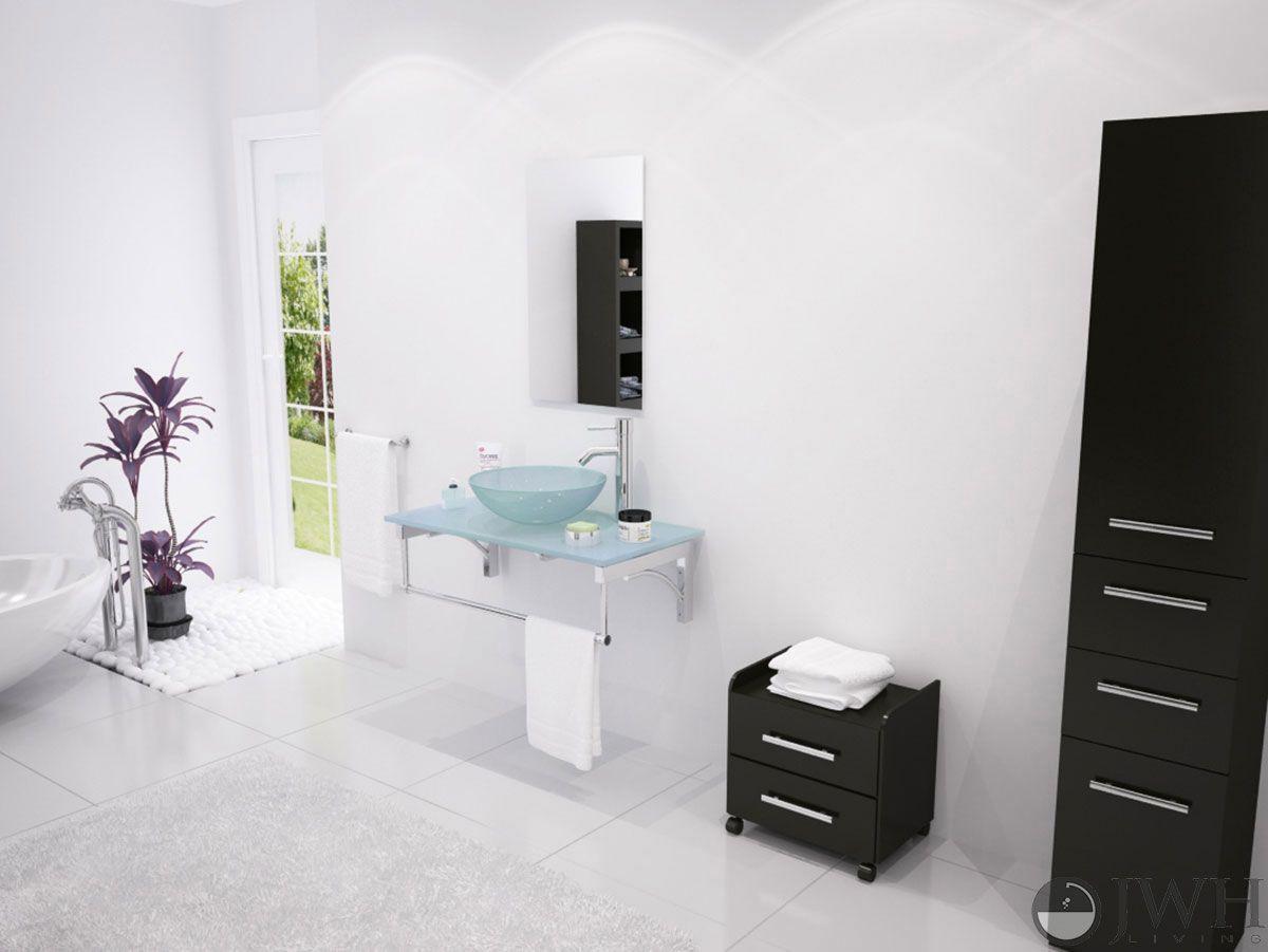 aries single vessel sink vanity masculine bathroom design
