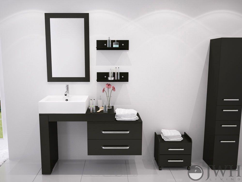 scorpio vessel sink vanity for masculine bathroom design