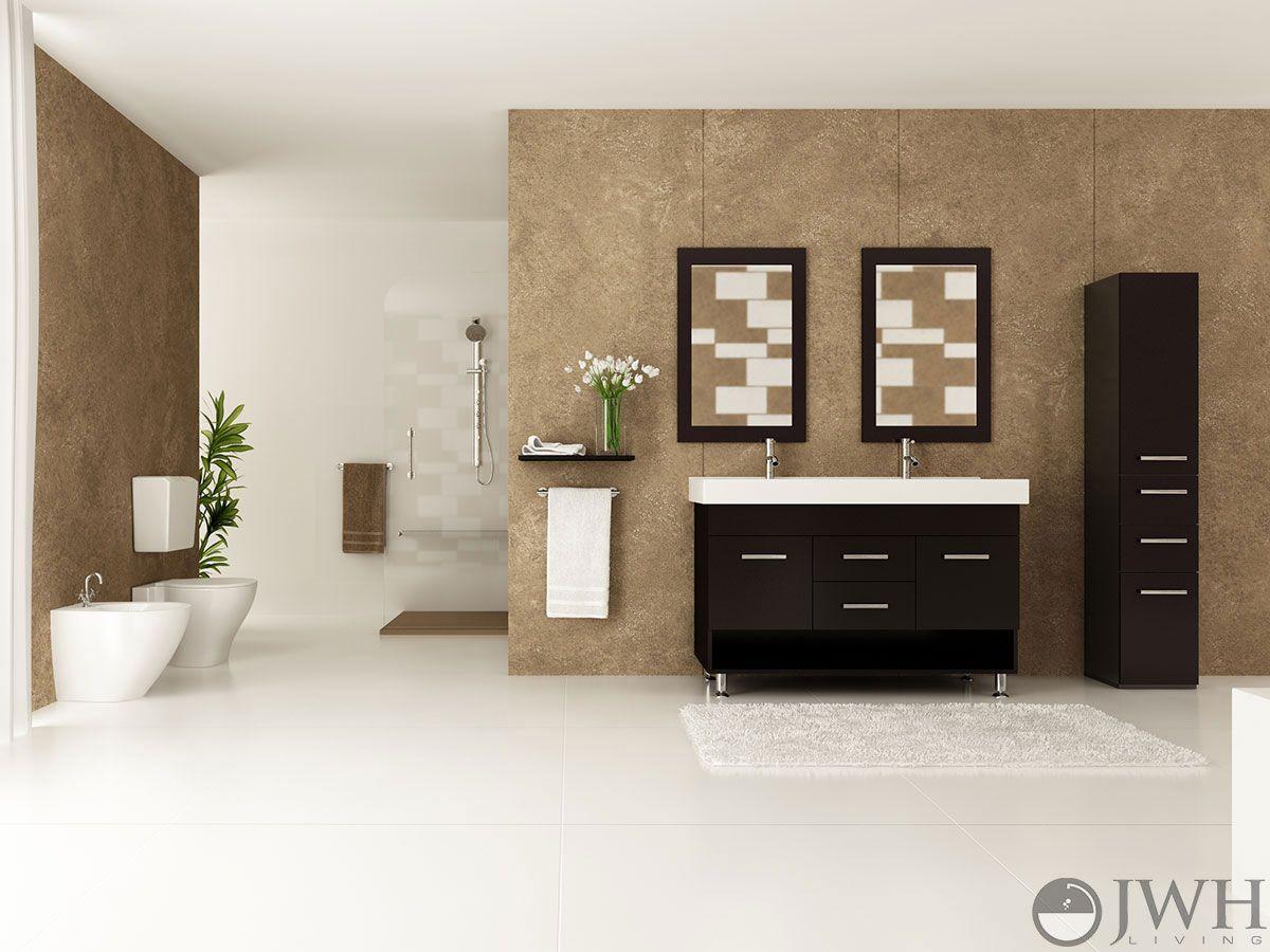 rigel double sink vanity for masculine bathroom design