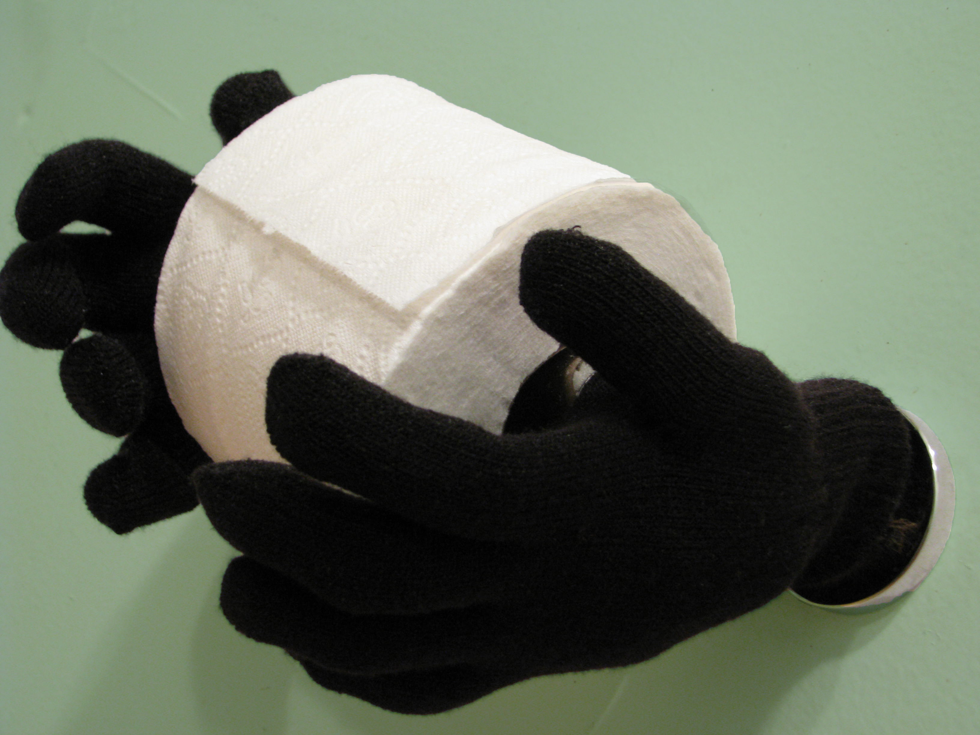 Fun Halloween Ideas for your Bathroom: Magic Hands hold your Toilet Paper!