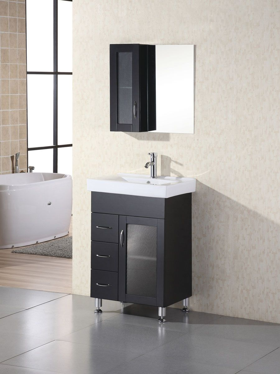 Narrow bathroom vanities with 8 18 inches of depth - 19 inch deep bathroom vanity top ...