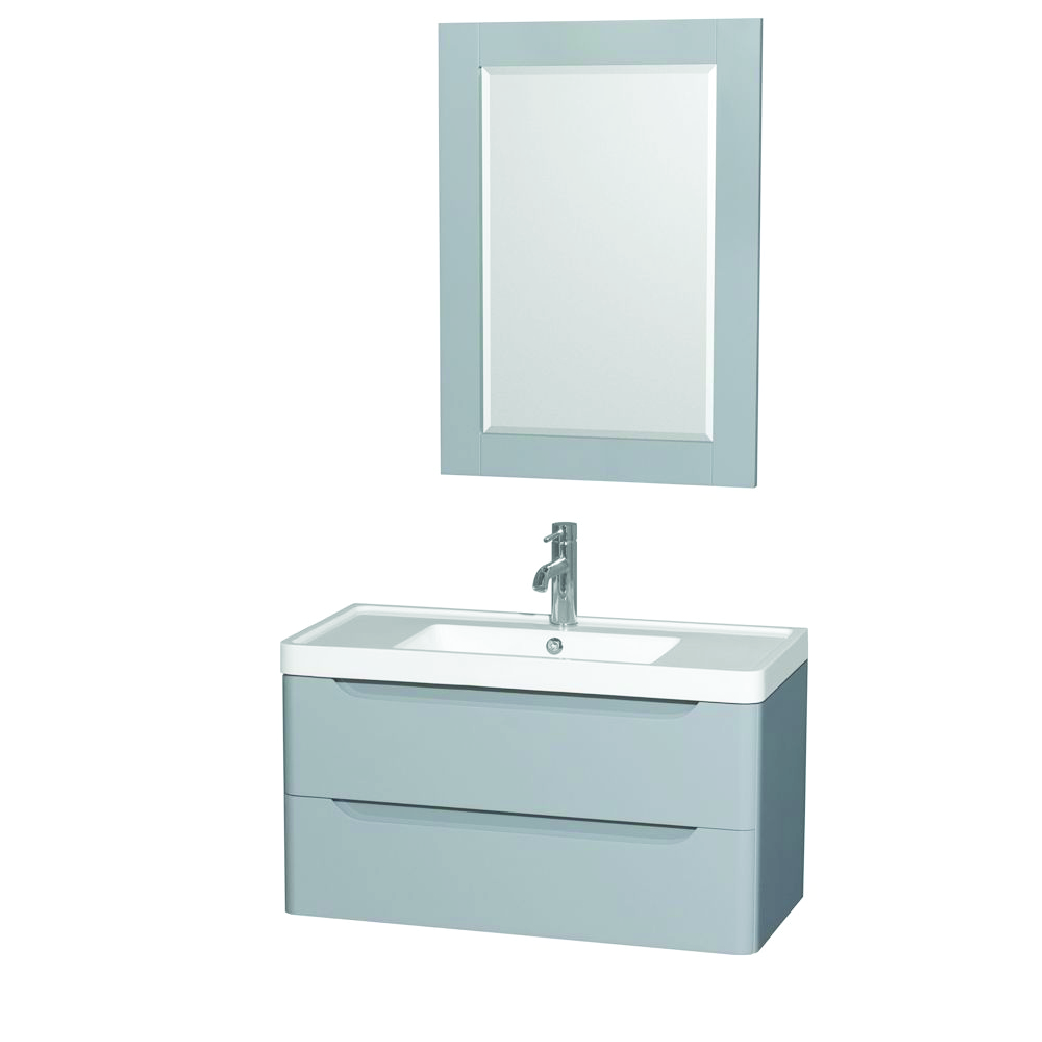 murano single floating vanity with two drawers
