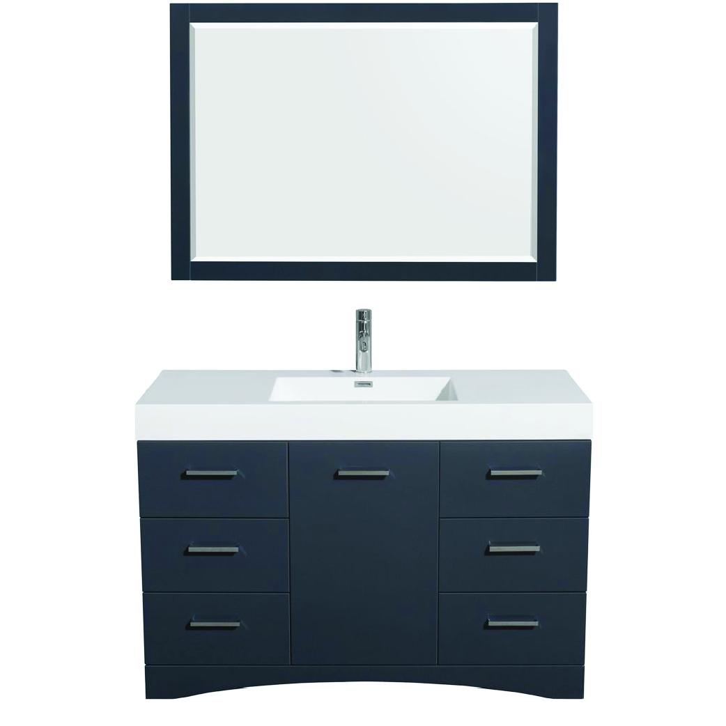 delray single bathroom vanity in clay
