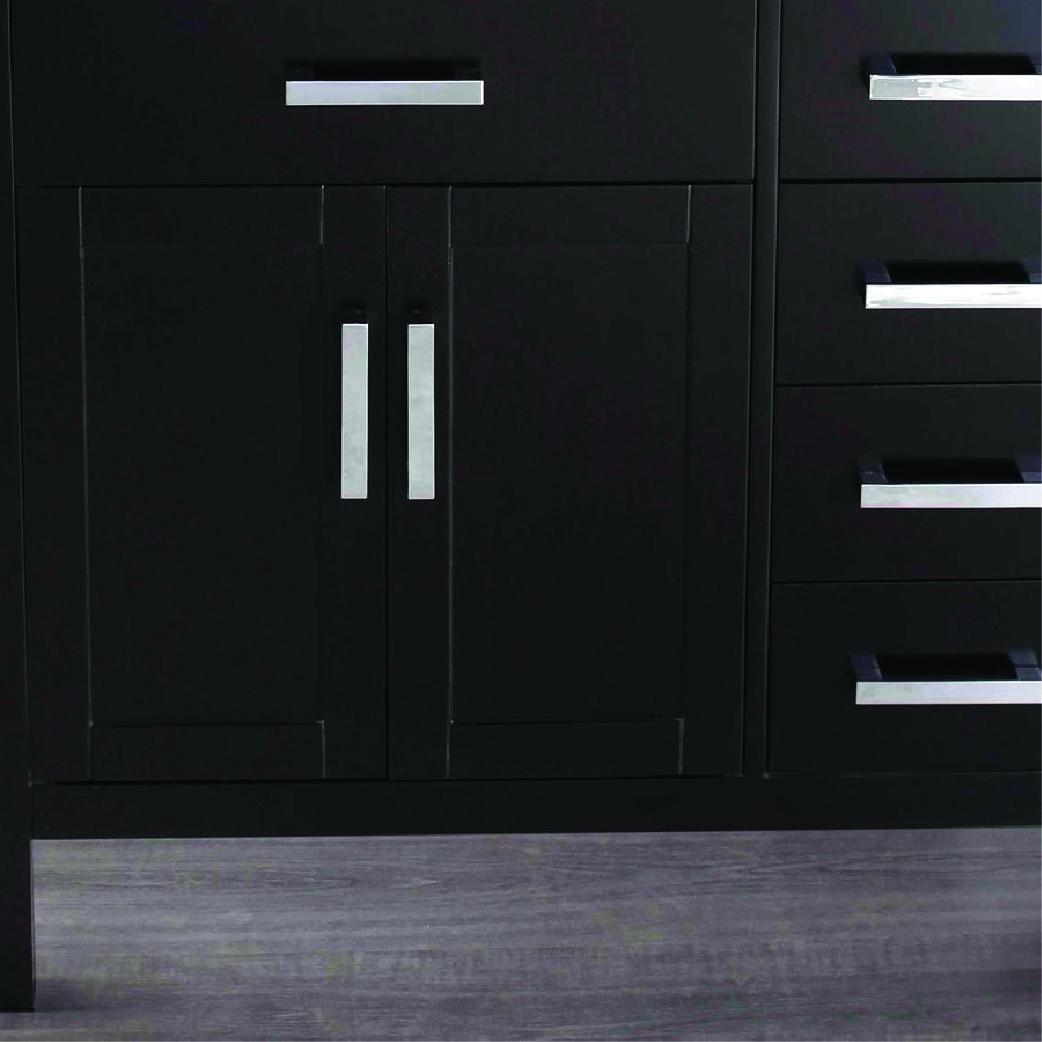 bosconi single bathroom vanity in black