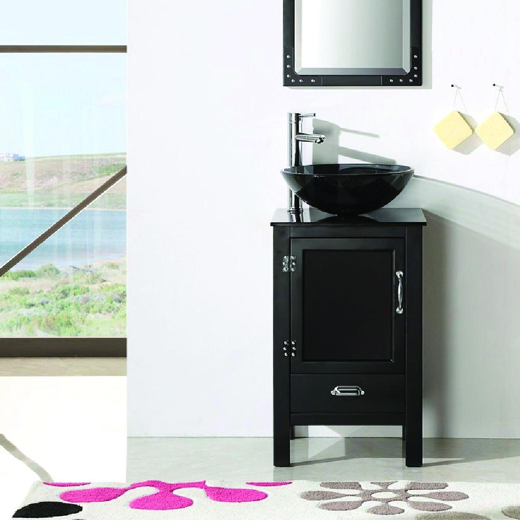 willowhills single glass vessel sink bathroom vanity
