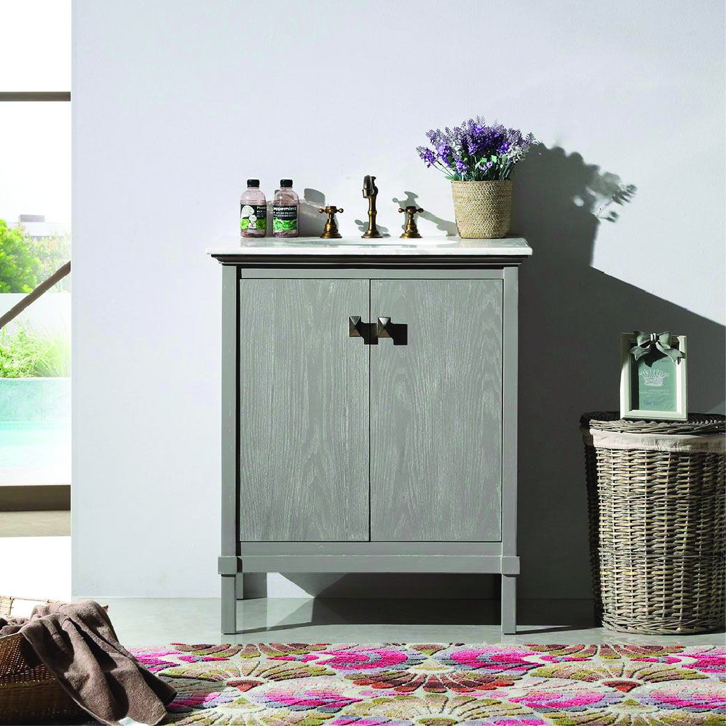 willowhills single natural wood bathroom vanity with marble top
