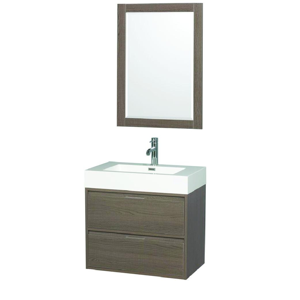 daniella single bathroom vanity in gray oak