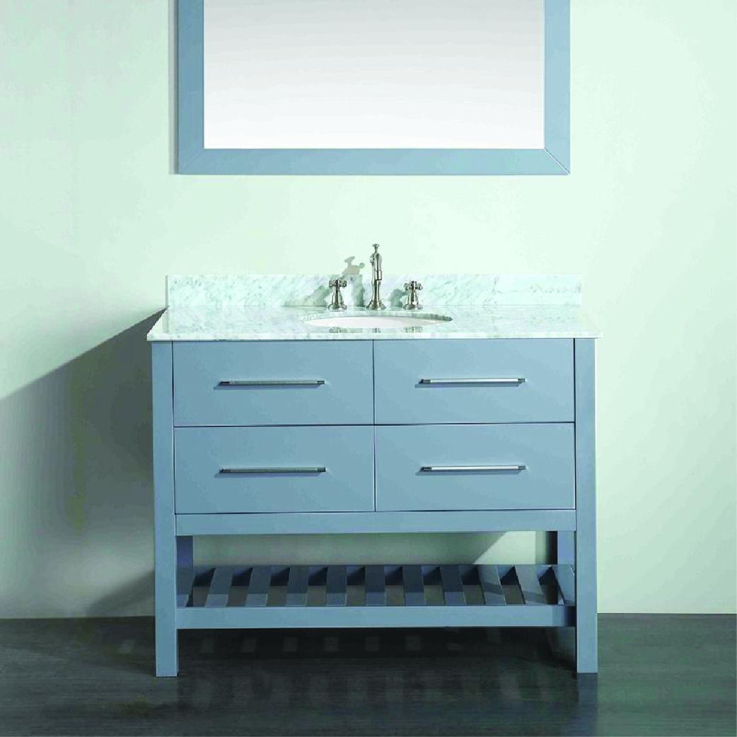 bosconi single contemporary bathroom vanity in gray