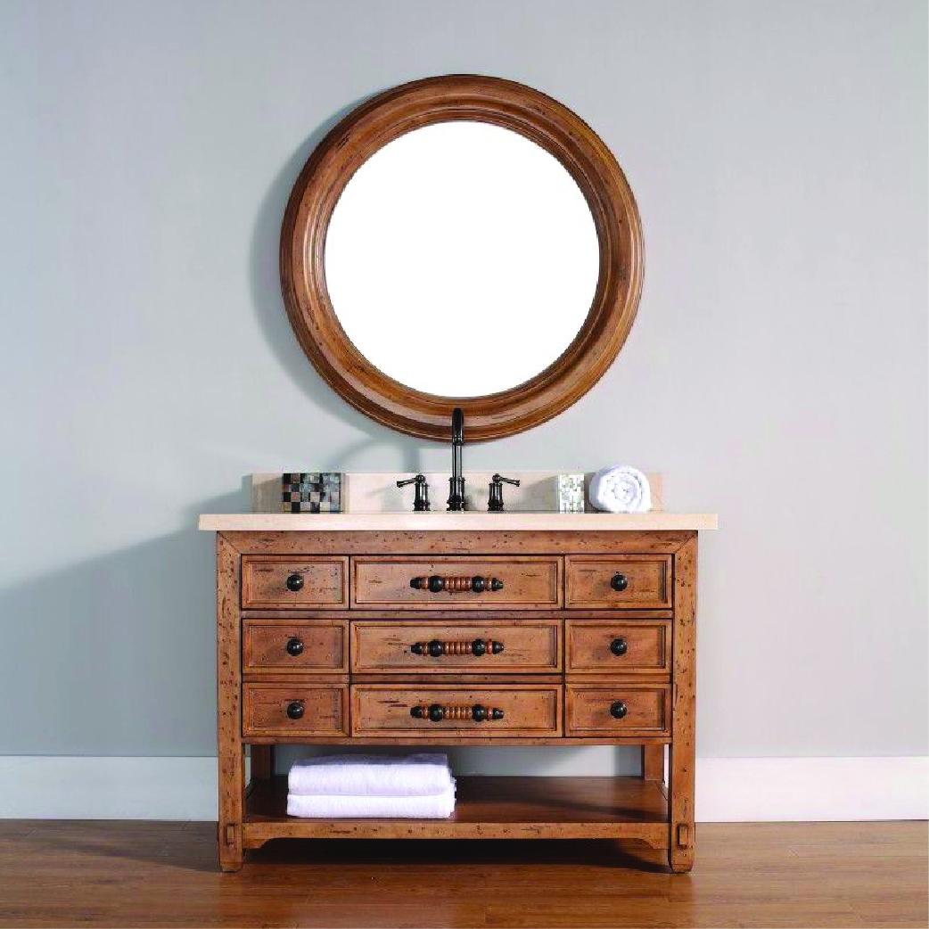 malibu single natural wood vanity