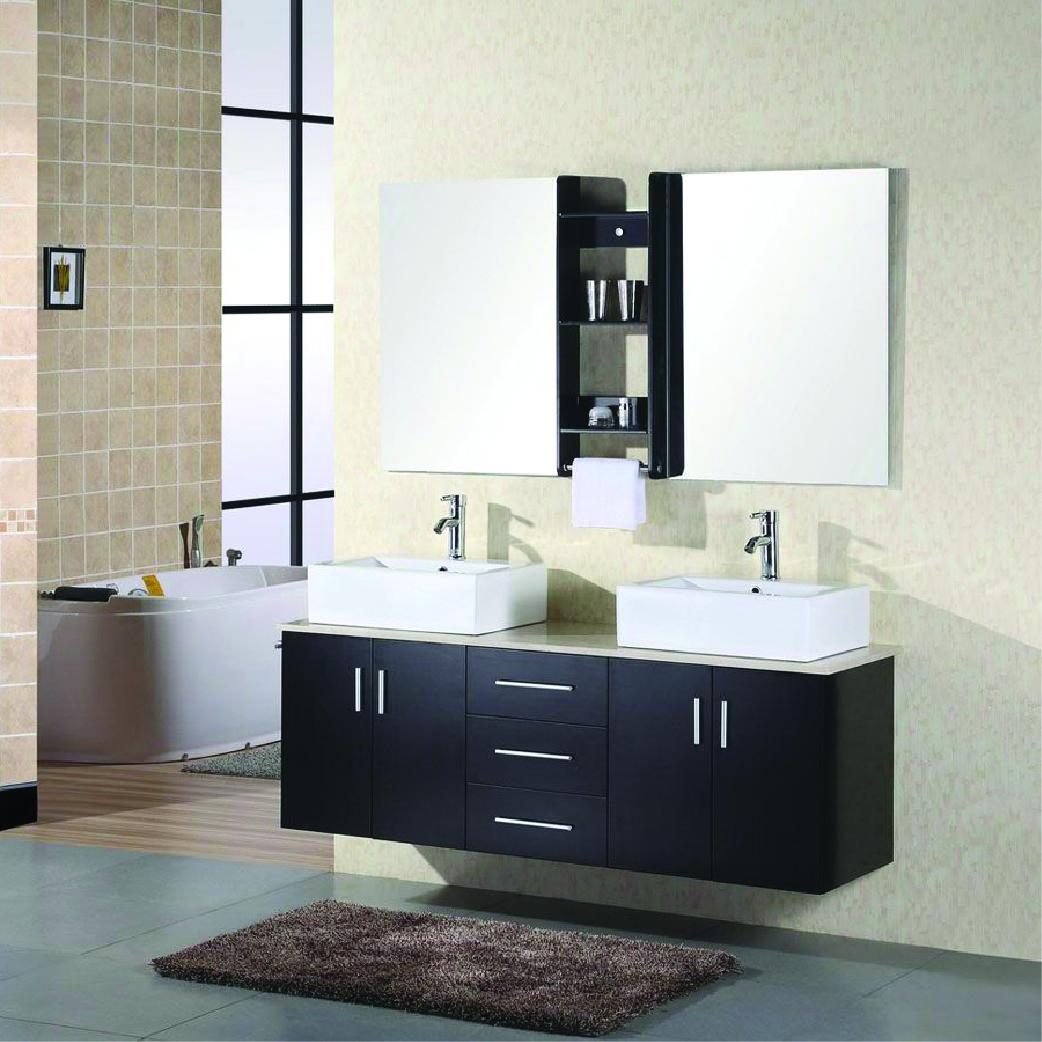 portland double floating vessel sink vanity