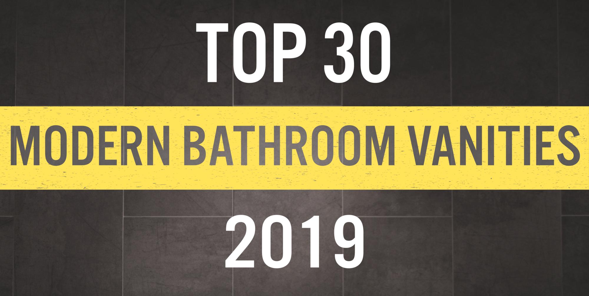 The 30 Best Modern Bathroom Vanities of 2019