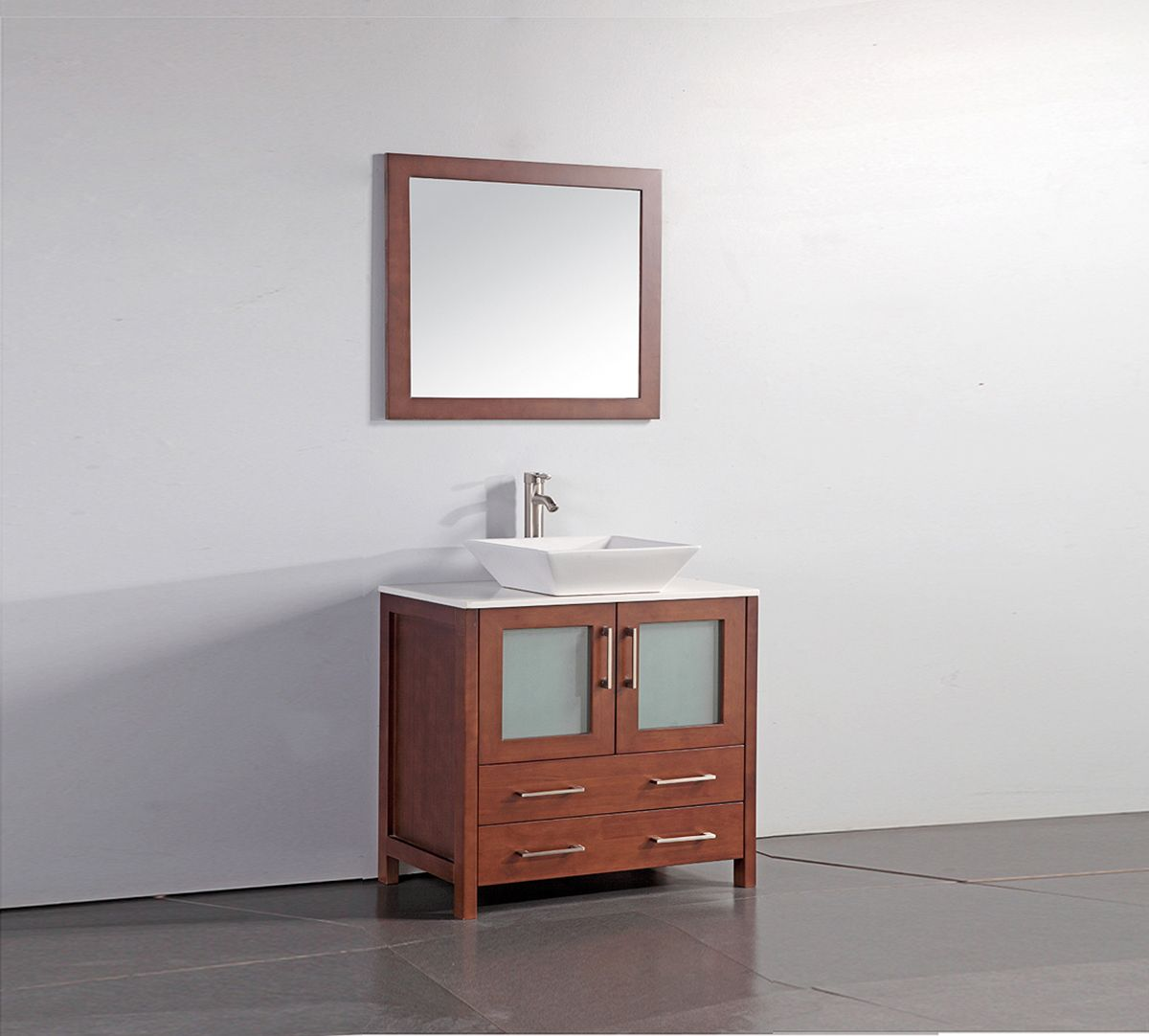 willowapple solid wood sink vanity with mirror in cherry best material for a bathroom vanity