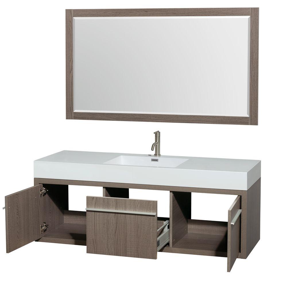 axa double sink vanity in gray oak for masculine bathroom design