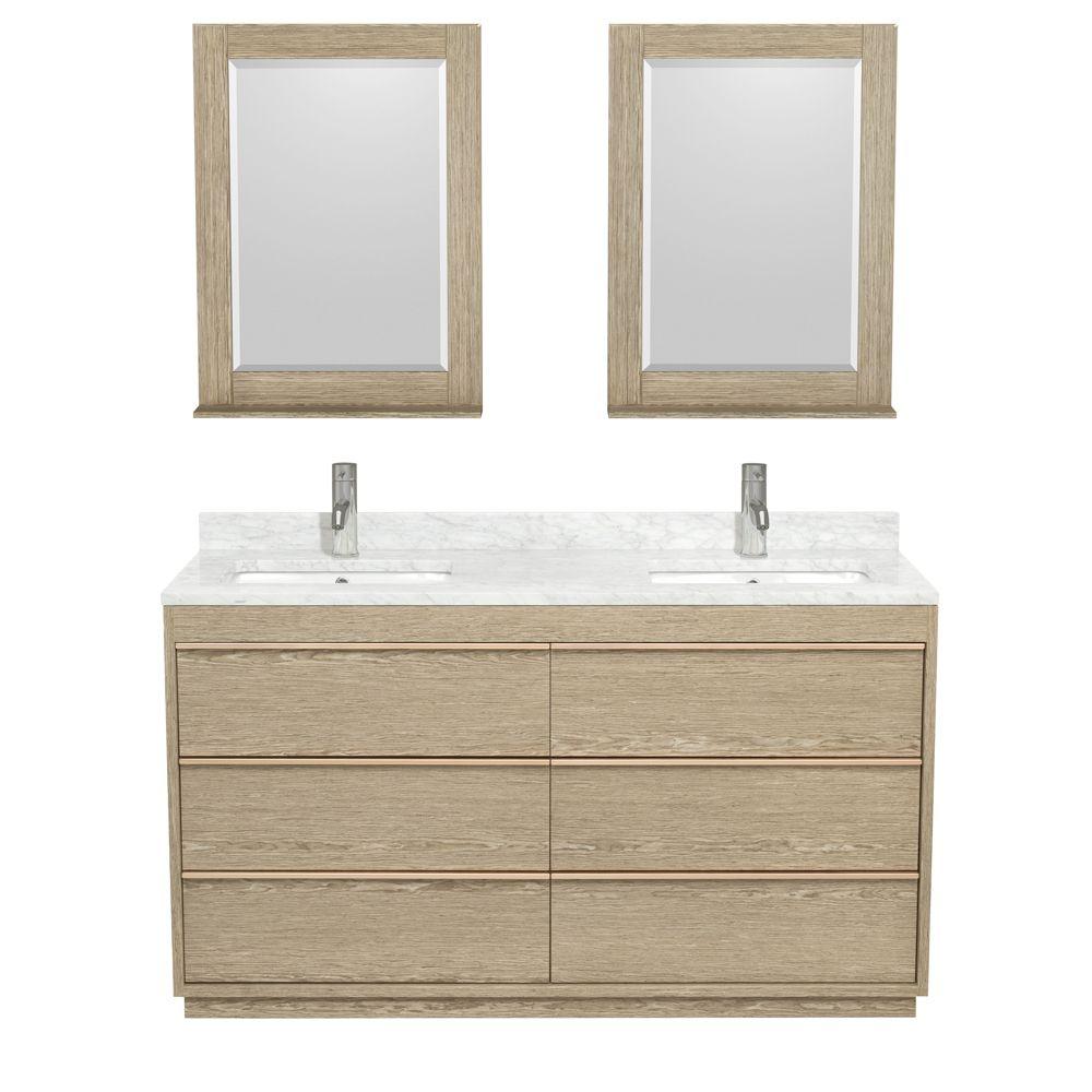 naya double bathroom vanity in ash gray plywood best material for a bathroom vanity