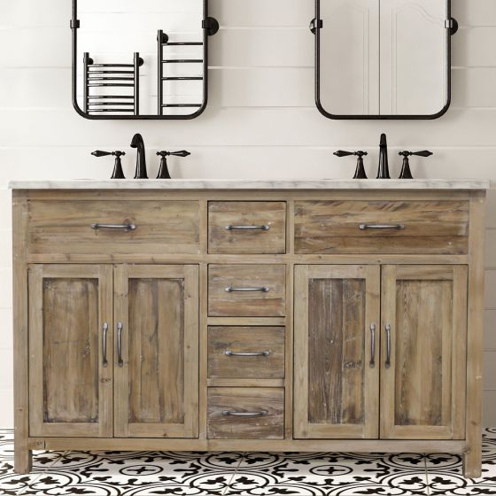 How To Distress Bathroom Cabinets And